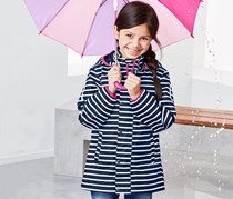 Girl's All-Weather Jacket, Navy Blue