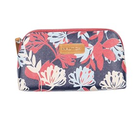 Nautica Trap Case Floral Print Cosmetic Organizer, Navy Combo