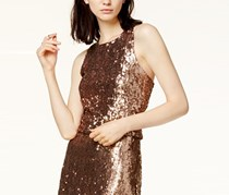 Bar III Sequined Cropped Top, Copper