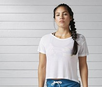 Reebok Women Training Workout Ready Activchill Slub Tee, White