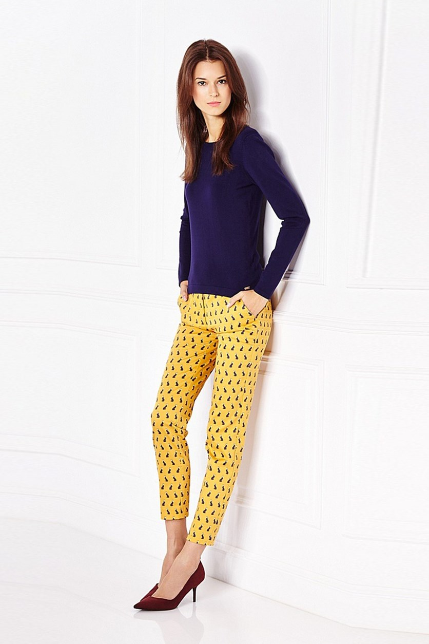 Women's Printed Pants, Honey