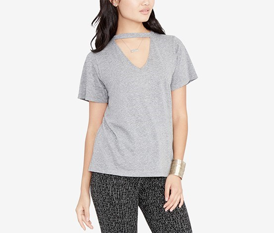 Choker T-Shirt, Heather Grey