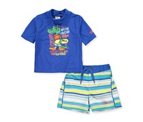 Skechers Baby Boys' 2-Piece Swim Set, Blue