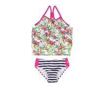 Skechers Toddler Girls Floral Two-Piece Tankini Swimsuit Set, White