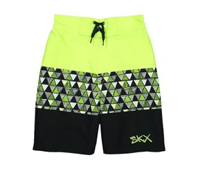 Skechers Lime Geometric Board Shorts, Lime Combo