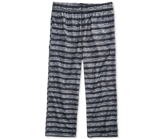 Max & Olivia Boy's Sleep Pants, Black/Gray