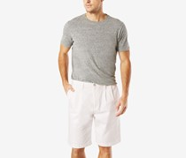 Dockers Mens Double-Pleated Shorts, White