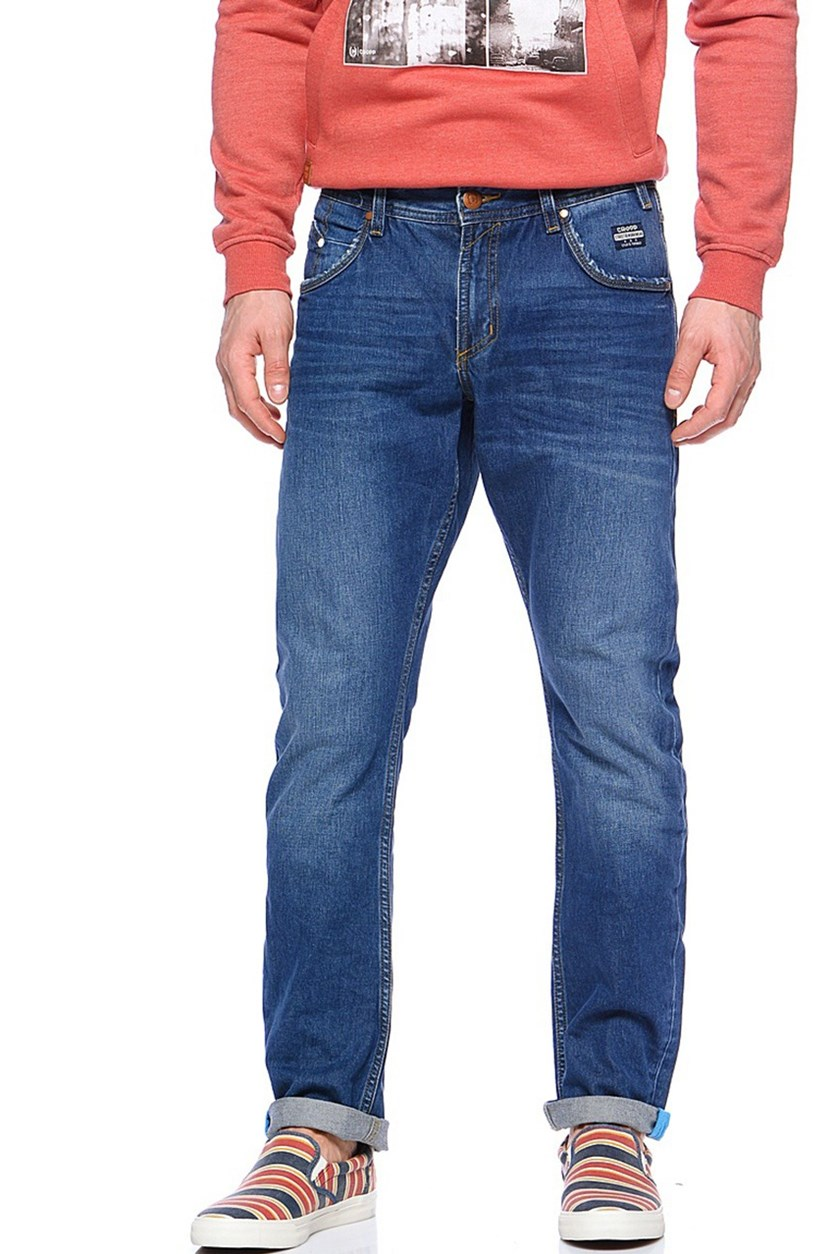 Men's Straight Jeans, Blue