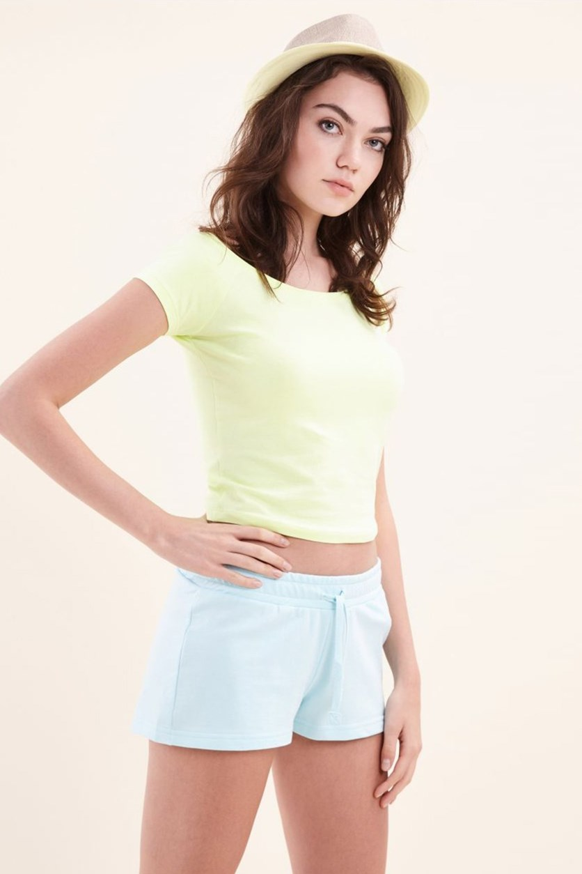 Women's Crop Top, Lime