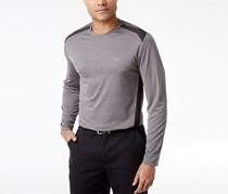 Greg Norman For Tasso Elba Men's Pieced Performance Long-Sleeve T-Shirt, Grey Heather