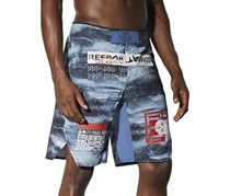 Reebok Men's Combat Prime Mma Short, Black/Blue