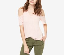 Sanctuary Women's Dahlia Cold Shoulder Tee, Pink