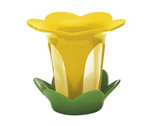 Zak Designs Flower Tea Filter With Coral Sauce, Coral Yellow/Green