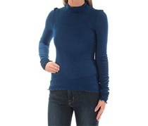 Free People Modern Cuff Long-Sleeve Turtle Neck Top, Dark Blue