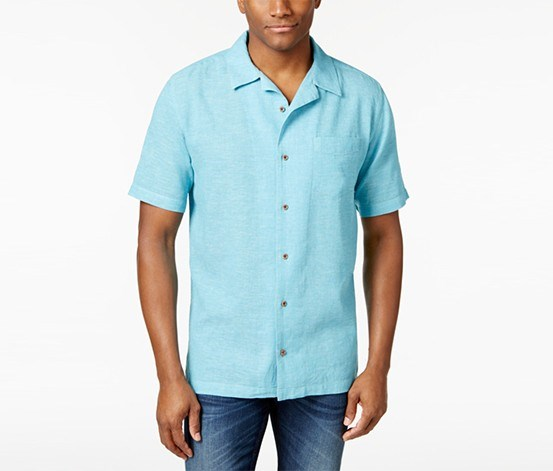 Weatherproof Vintage Mens Angelo Chambray Shirt, Norse Blue