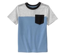 Gymboree Toddlers Colorblock Tee, Cloudy Sky