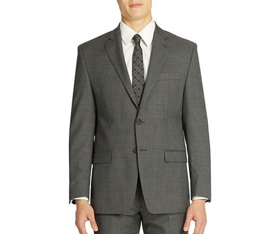 Sharkskin Blazer, Grey