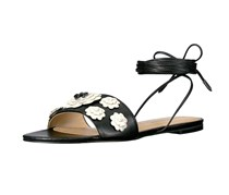 Ivanka Trump Catera Flat Lace-Up Sandals, Black