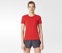 Adidas Women's Casual T-Shirt, Red