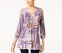 Style & Co Cold-Shoulder Peasant Top, Ethnic Fall
