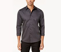 INC Mens Kurt Non-Iron Shirt, Black Combo