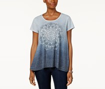 Style & Co Ombre Printed T-Shirt, Ombre Medallion