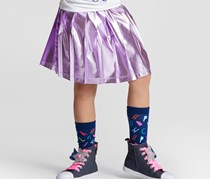 Cat & Jack Girls' Shine Lined Skirt, Purple