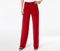 Alfani Knit Wide-Leg Trousers, Red