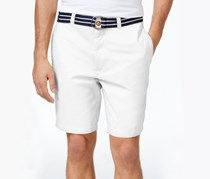 Club Room Mens Flat-Front Shorts, Bright White
