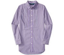 Ralph Lauren Girls Striped Long-Sleeve Shirt, Purple