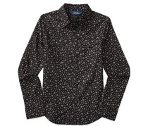 Ralph Lauren Floral-Print Long-Sleeve Shirt, Black