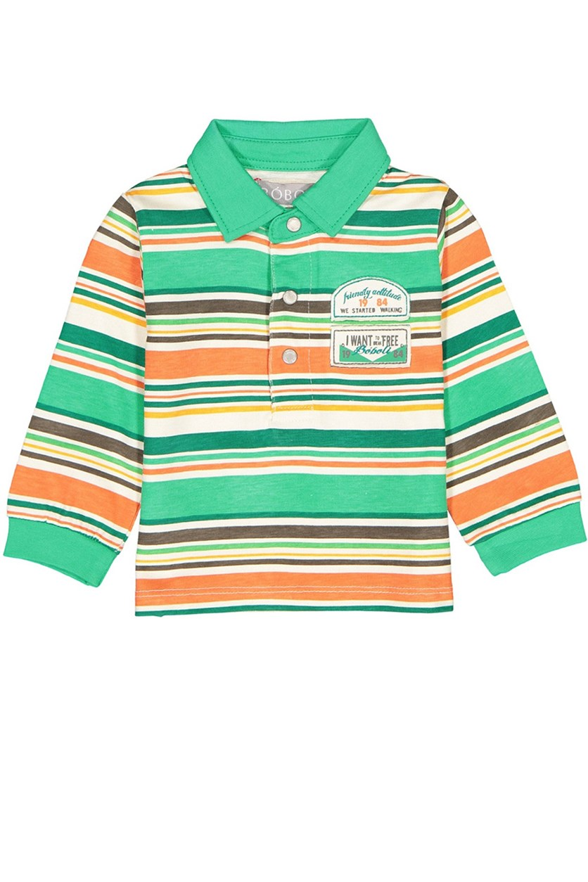 Stripe Top, Orange/White/Green