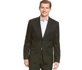 Calvin Klein Men's Professional Two Button Blazer, Black