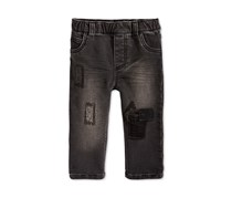 Toddlers  Rip Repair Patches Pull-On Jeans, Black Wash