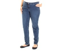 Max Studio London Indigo Wash Skinny Plus Size Jeans, Navy