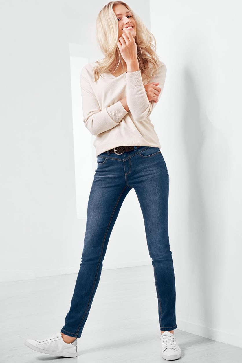 Women's Slim Fit Jeans, Denim Blue