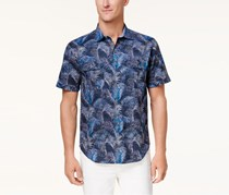 Tommy Bahama Mens Fez Fronds Printed Shirt, Maritime