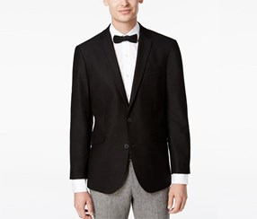 Kenneth Cole Reaction Men's Slim-Fit Sport Blazer, Soft Black
