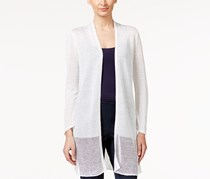 Alfani Illusion Duster Cardigan, White