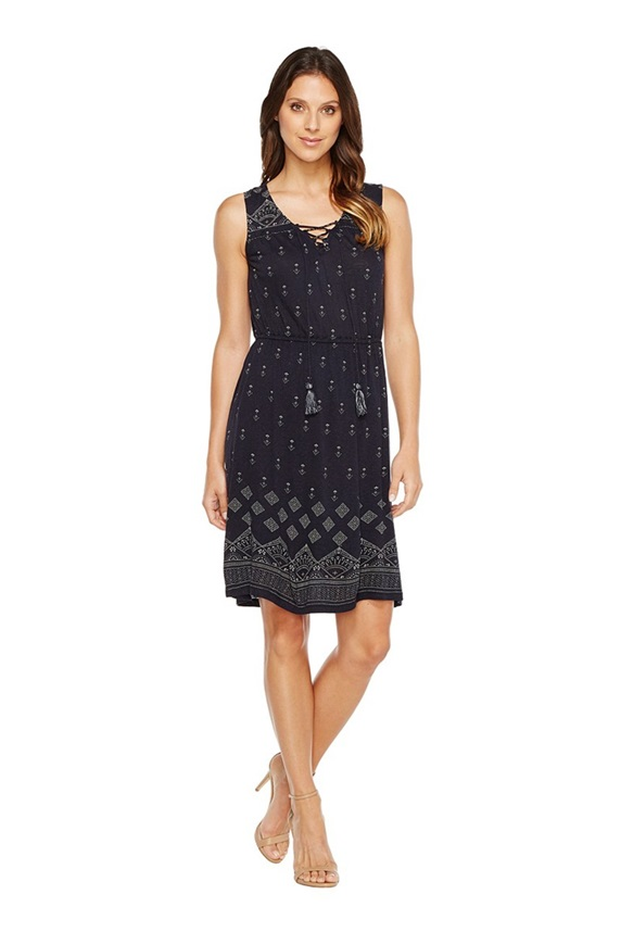 018c2ef5ca Lucky Brand Beaded Lace-Up Dress