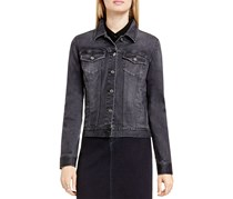 Two by Vince Camtuo Faded Denim Jacket, Dark Gray