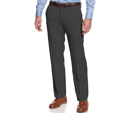 Kenneth Cole Vertical Textured Flat Front Pant, Grey