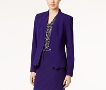 Kasper Plus Size Open-Front Jacket, Raisin