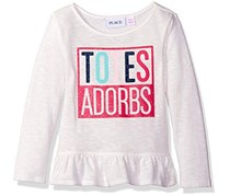 The Children's Place Girl's Sweater, White/Fushia