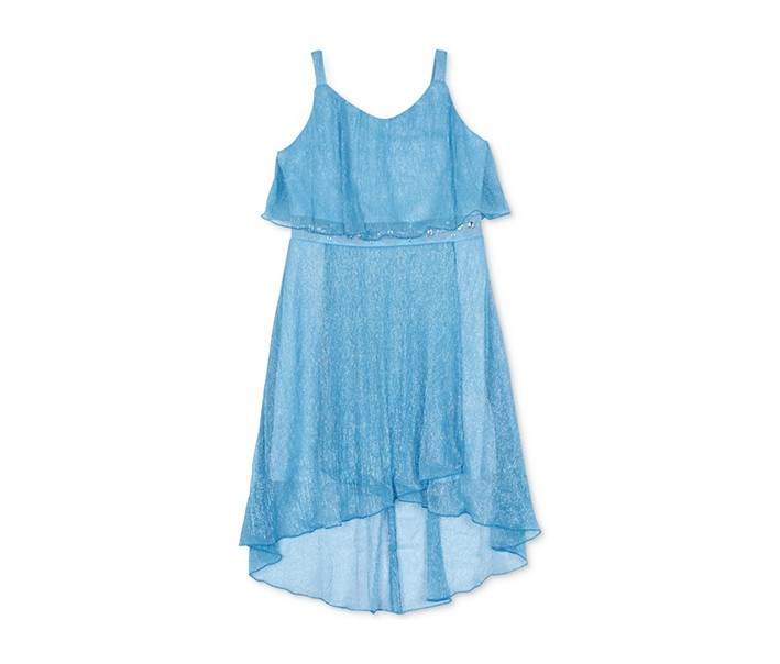 Popover Jeweled Dress, Ice Blue