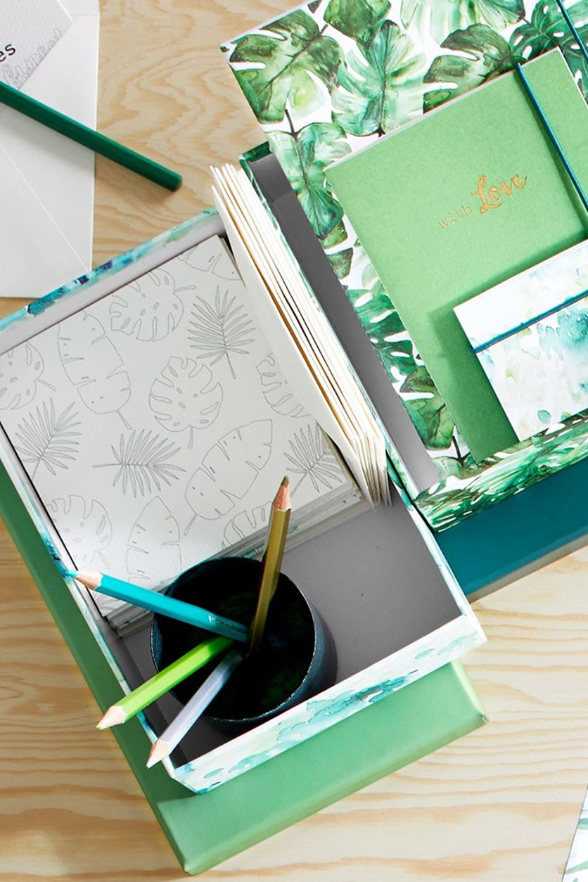 Coloring Cards Set with 5 Pens