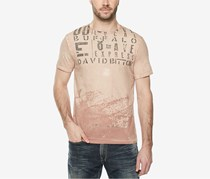 Mens Graphic-Print T-Shirt, Faded Garnet