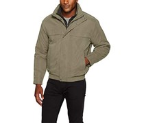 Weatherproof Men's Bomber Jacket with Bib Insert, Saddle