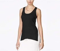 Rachel Roy Ribbed Tank Top, Black