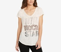 William Rast Melange Graphic T-Shirt, Marshmallow